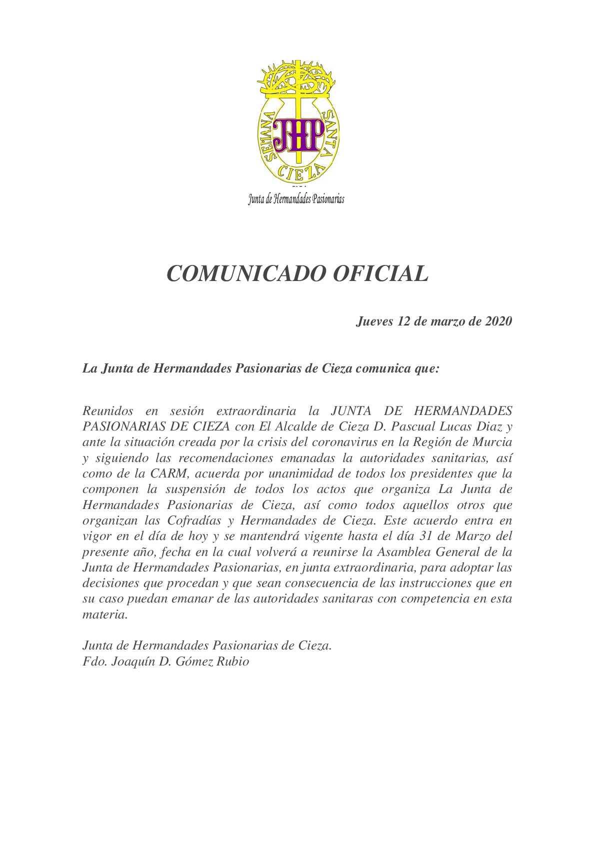 COMUNICADO JHP 120320 COVID-19.pdf